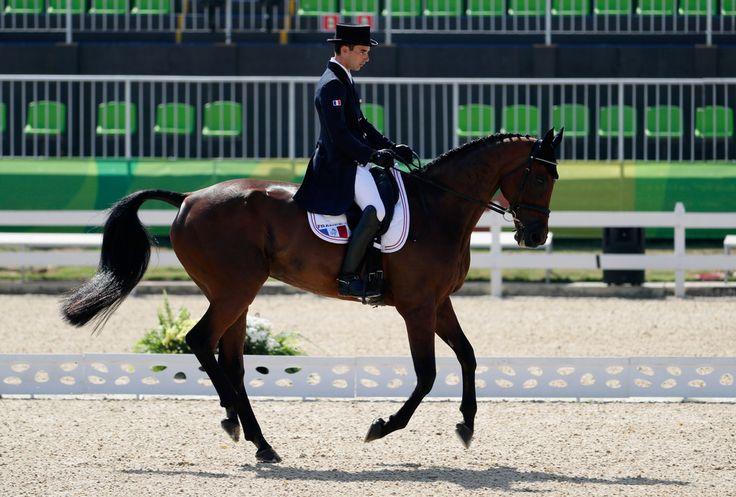 DAY 1 - EQUESTRIAN: Individual Eventing Dressage - Astier Nicolas of France riding Piaf de B'Neville