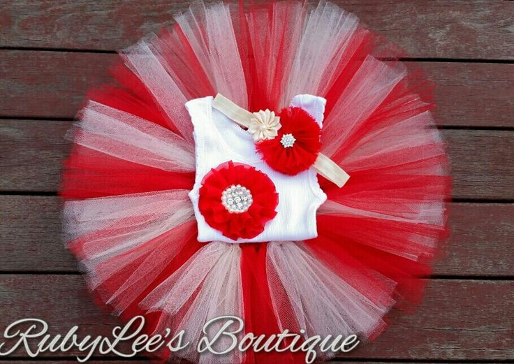 #ivory #Red #PhotoProp #BabyGirl #Outfit  #CakeSmash #Tutu #Headband #Matching #Set  #Birthday Rubylee's Boutique Online https://www.facebook.com/Rubyleesboutiqueonline