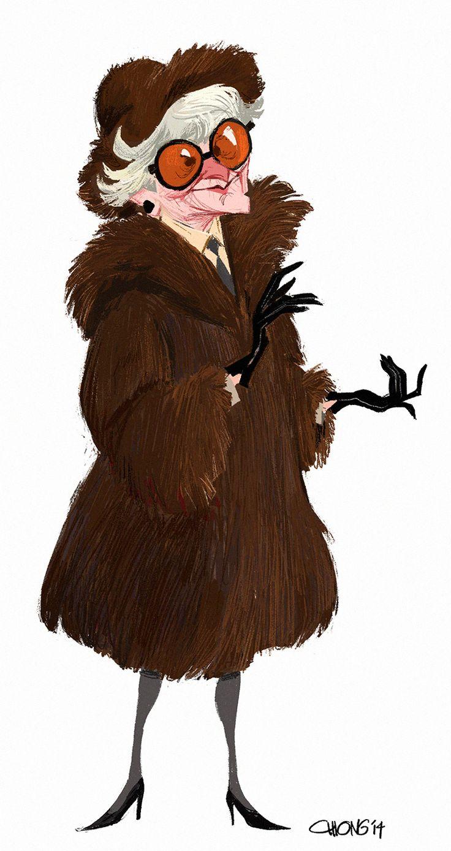 Oscars In Memoriam: ET & Tumblr remember Elaine Stritch through fan art. Art…