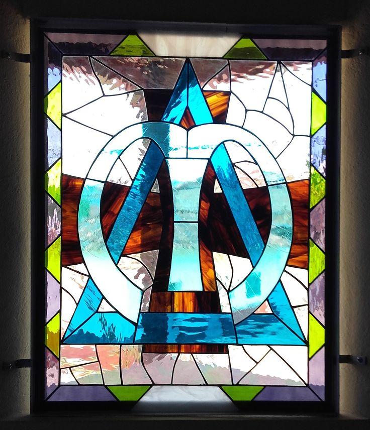 Vitral ventana oratorio. ablvitrales@gmail.com