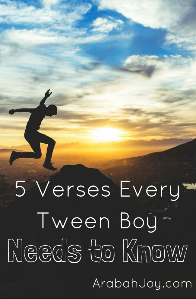 Do you have a tween or teen boy? Here are 5 scriptures every tween and teen boy needs to know!