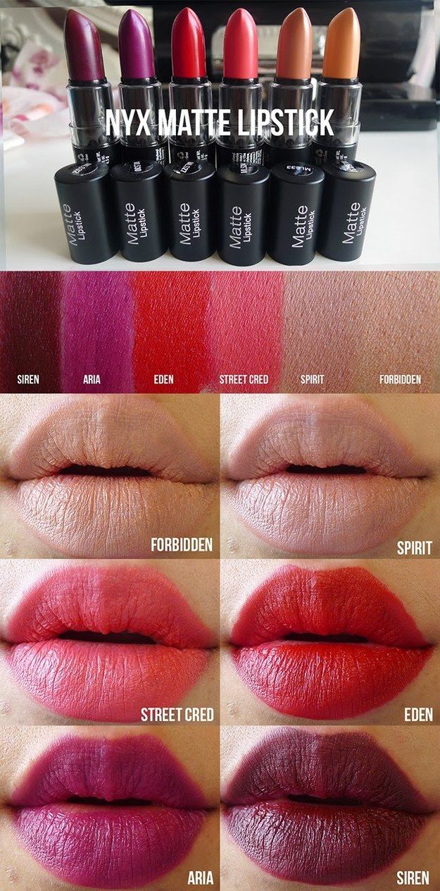 NYX Matte Lipsticks have a creamy application and — unlike most mattes — won't dry out your lips.
