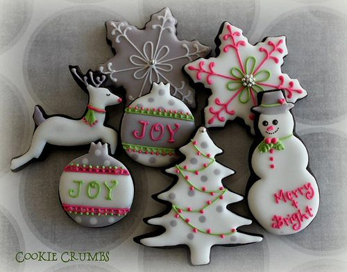 Fuchsia Christmas Cookies