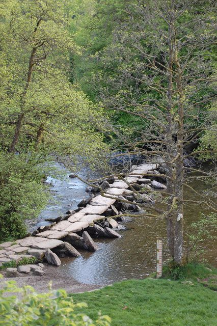 Tarr Steps, Clapper Bridge, across the River Barle, Exmoor,  by Matthew Bristow. The bridge is thought to date from 1000 BC which would make it the oldest bridge in England