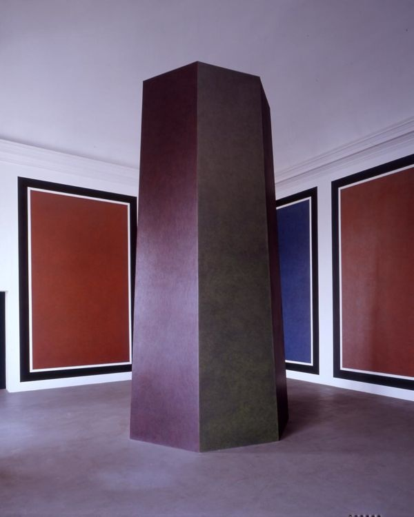 Panels and Tower with Colours and Scribbles (Pannelli e torre con colori e scarabocchi) by Sol Lewitt, 1992 _ Castello di Rivoli Museo d'Arte Contemporanea