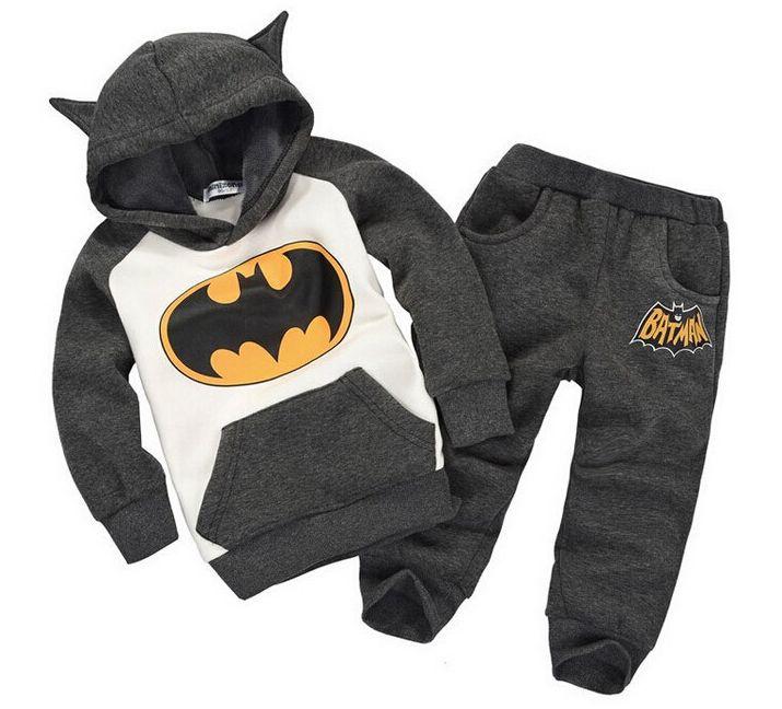Boy's Batman Hoodie & Sweatpants Set