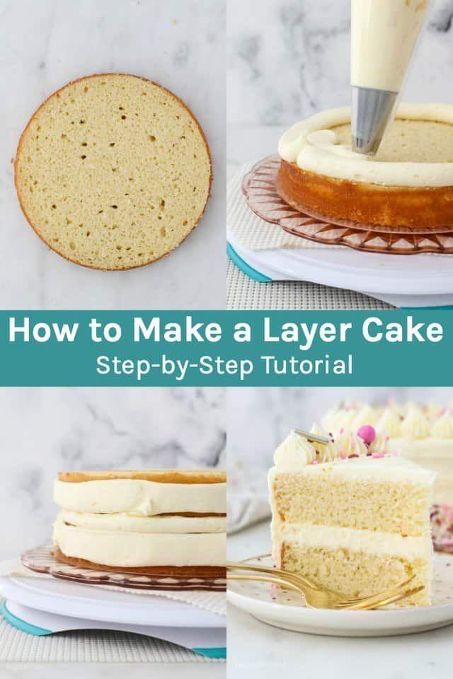 Vanilla Layer Cake Recipe Cake Baking Basics How To Make Cake