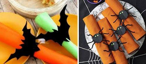 halloween, portatovagliolo,fai da te halloween,pipistrello,ragnatela,