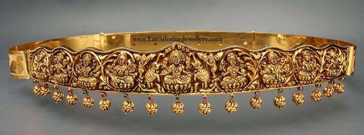 Heavy Gold Lakshmi Vaddanam Design
