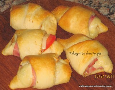 ... ham and cheese appetizers crescent rolls recipes yummly ham and cheese