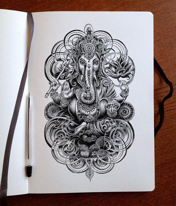Ganesha ink by Bennett-Klein
