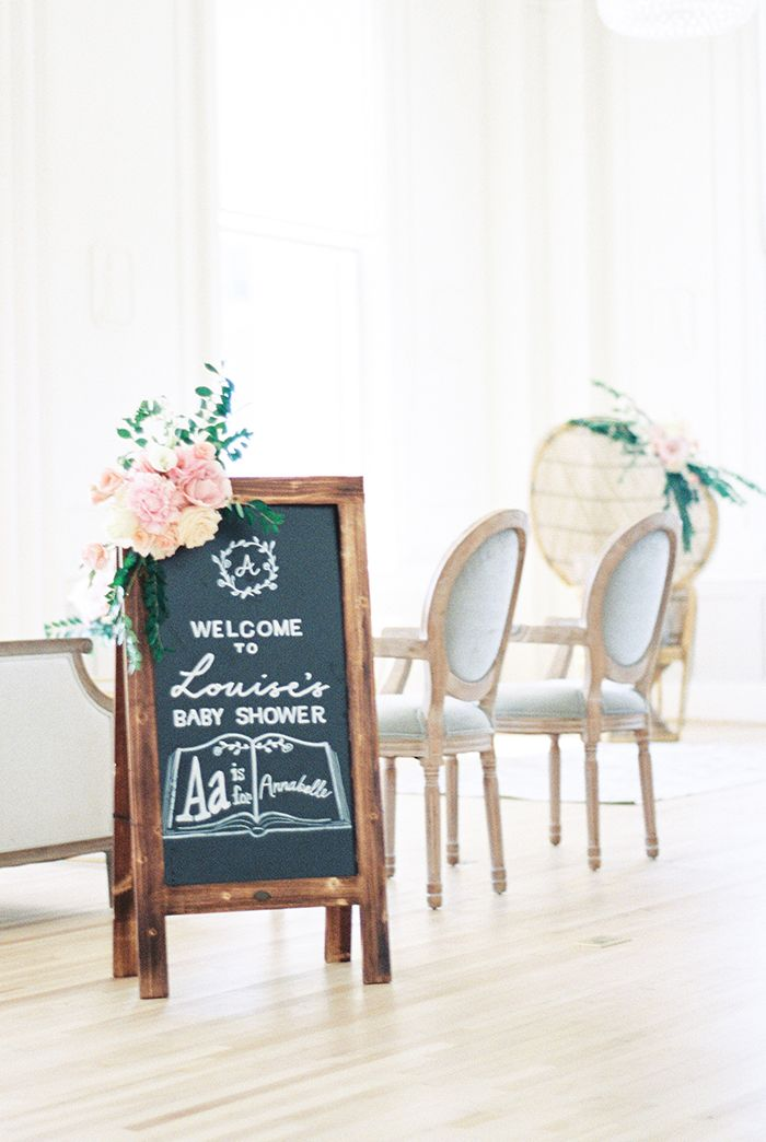 Adorable Hand Lettered Chalkboard Sign    #party #partyideas #babyshower #bridalshower #partydecor