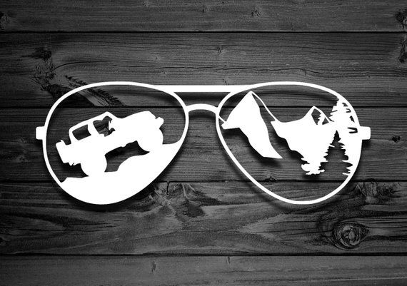 Aviator Vinyl Decal For Jeeps Car Decal Mountain Decals