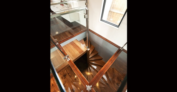 Creatively designed spiral staircase an alternative to the traditional metal break your neck stair