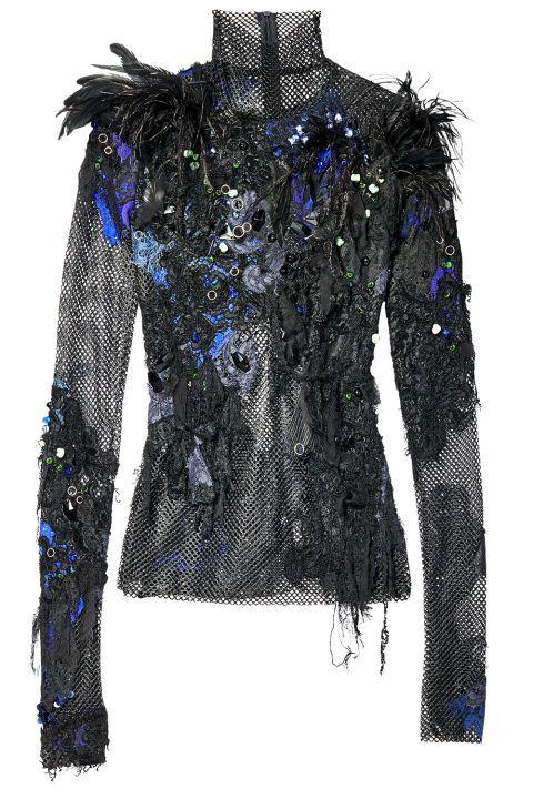 Nouveau Noir: The New Black Pieces for Fall: Koché top, $1,705, 800-695-8000