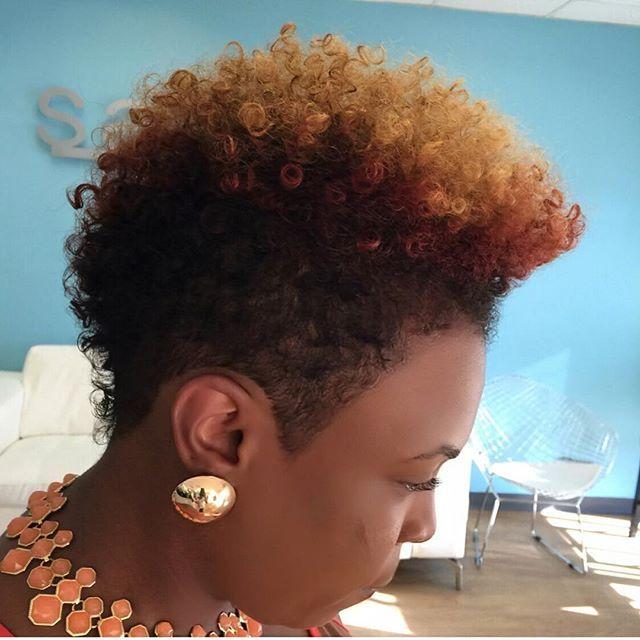 Pleasing 1000 Ideas About Natural Hair Mohawk On Pinterest Mohawks Short Hairstyles For Black Women Fulllsitofus
