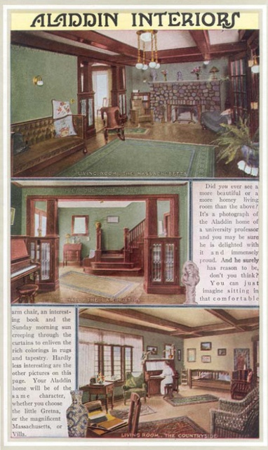 Awesome Interiors From Aladdin Homes Catalog From 1916
