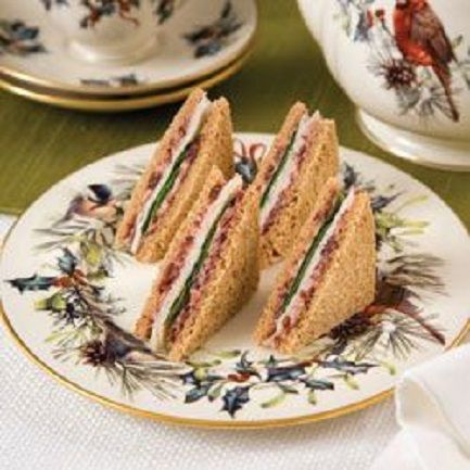 Smoked Turkey And Cranberry Cream Sandwiches recipe (1) From: Tea Time Magazine, please visit