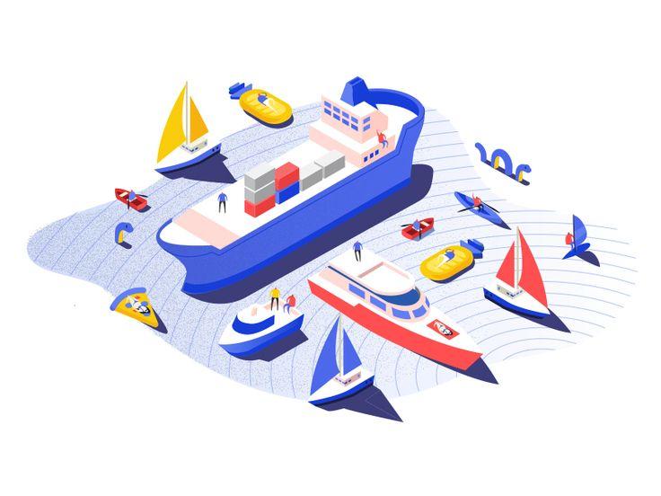 PORT Landing Page Illustration
