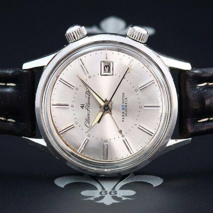 Classy & Large 1968 CITIZEN Vintage Alarm Dress Watch Ref. ALDS51301.Y Cal. 3102