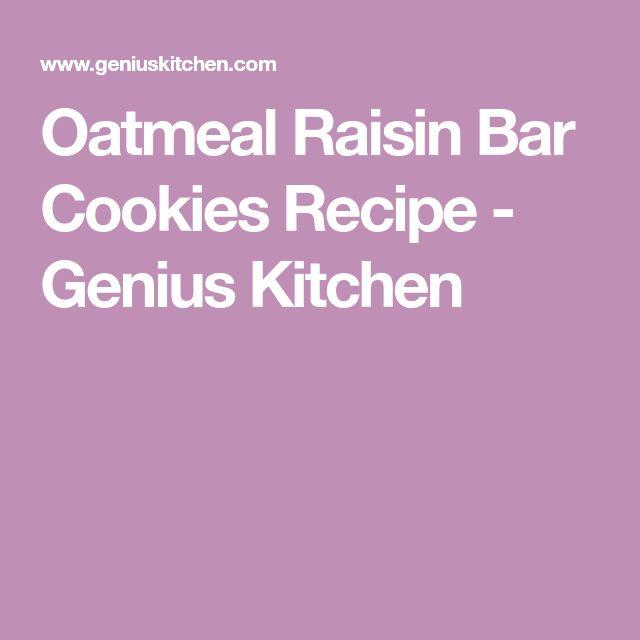 Oatmeal Raisin Bar Cookies Recipe - Genius Kitchen