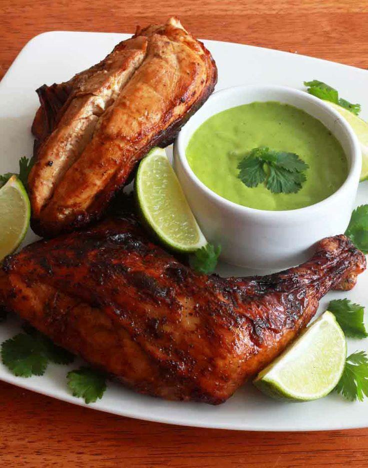 Pollo a la Brasa (Peruvian Roasted Chicken).  daringgourmet.com
