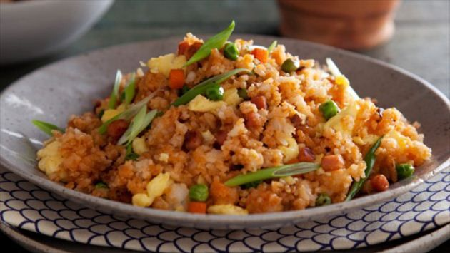 Get Yangzhou Fried Rice Recipe from Cooking Channel