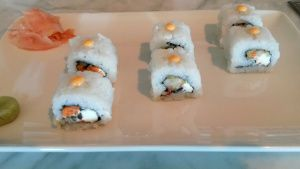 Cream Cheese #Sushi! #LandSMumbai #LandSMenu  Courtesy : Ajit Balgi