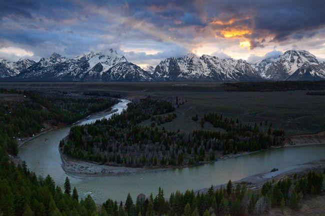 スネーク川の源流  ワイオミング州、ブリッジャー=ティートン国有林