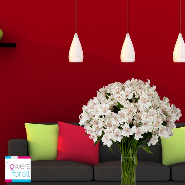 You can change the position of your vase as many times as you want to have different looks in your room. Find the perfect flower and color match at Flowersforall.com!