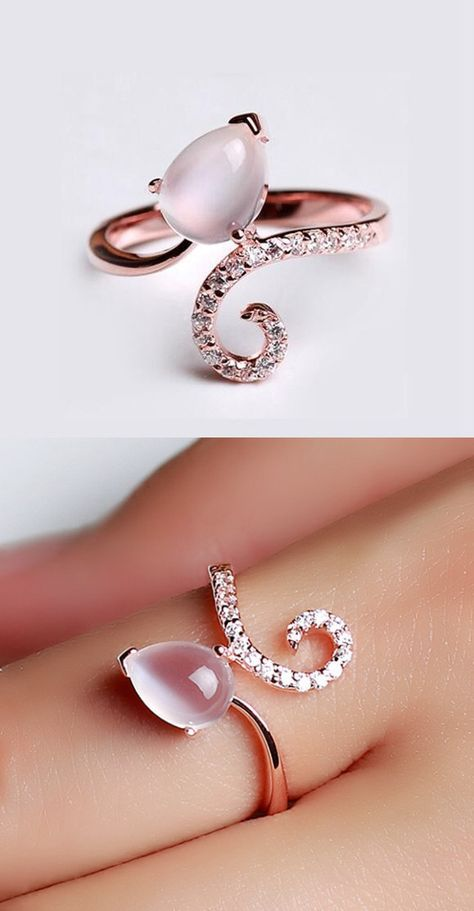 unique moonstone fashion promise ring under $100 http://www.jewelsin.com/p-chic-natural-moonstone-rose-gold-plated-silver-women-ring-1184