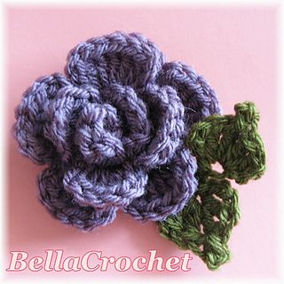 : Sweet and Simple Scarflette with Rolled Rose  ~ free pattern ᛡ