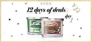 The annual Avon #12DaysofDeals has begun!  For Day 1, use CODE: PINE or COCOA to get a free candle with any $40 purchase. #AvonRep