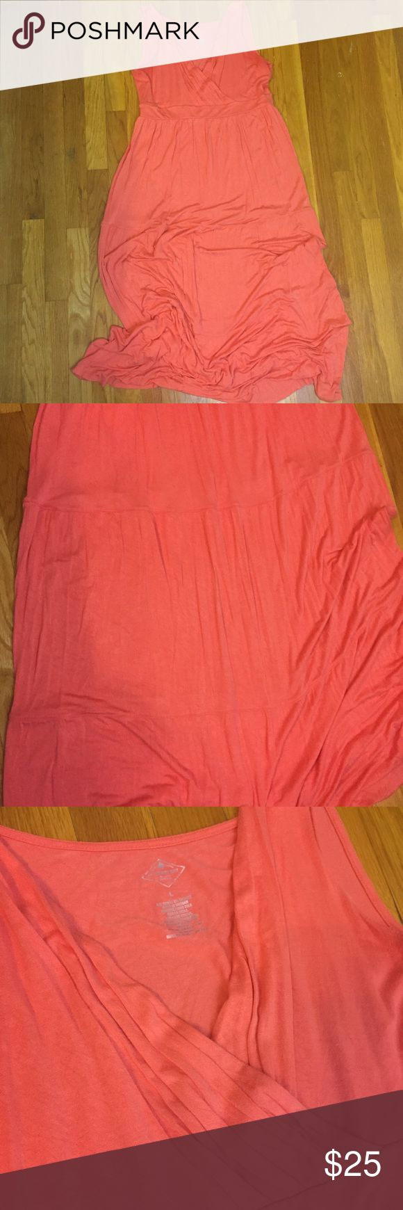 Coral Maxi Dress St. John's Bay Perfect beachy colored maxi dress. Great for vacation! Dress it up with a fun necklace or wear it as a swimsuit coverup! St. John's Bay. EUC. St. John's Bay Dresses Maxi