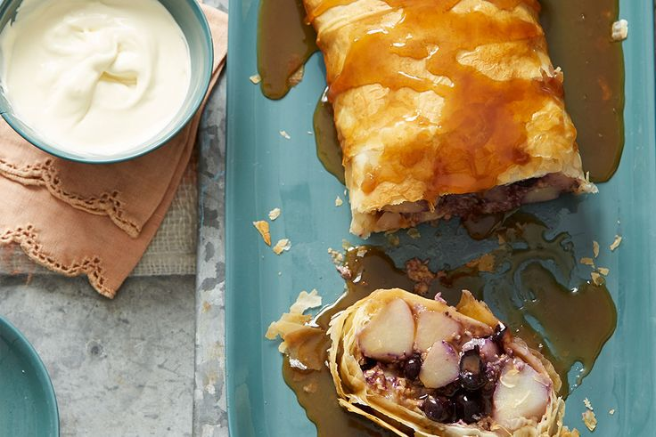 Pear and Blueberry Strudel Recipe
