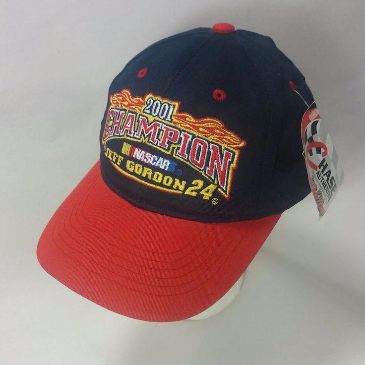 NEW NWT Jeff Gordon #24 2001 Champion NASCAR Hat Snapback Cap YOUTH ADJUSTABLE #ChaseAuthentics #HendrickMotorsports