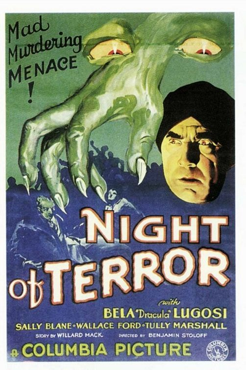 Night of Terror (1933) Stars: Bela Lugosi, Wallace Ford, Sally Blane, Bryant Washburn, Tully Marshall, Edwin Maxwell ~ Director: Benjamin Stoloff