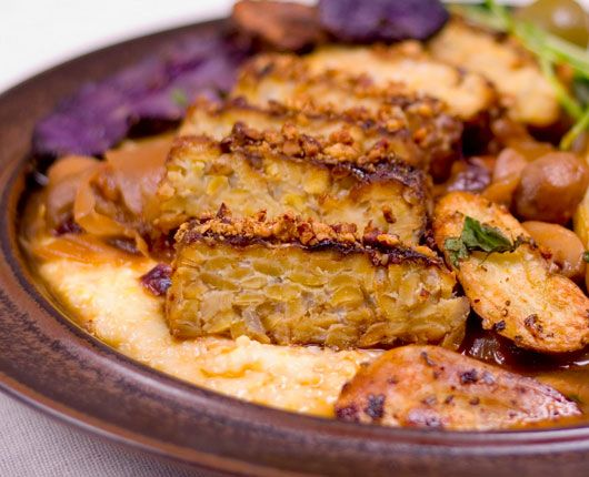 Quick & Easy Vegetarian Recipes - Maple-Pecan Crusted Tempeh - Click Pic for 21 Healthy Vegetarian Recipes