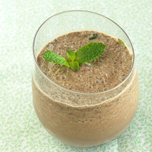 No Guilt Double Chocolate Mint Shake