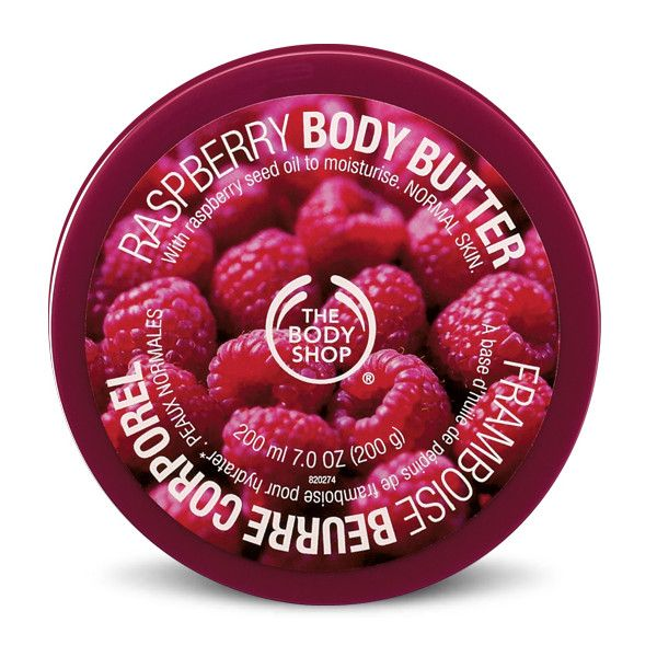The Body Shop Raspberry Body Butter (65 PEN) ❤ liked on Polyvore featuring beauty products, bath & body products, body moisturizers, beauty, fillers, makeup, cosmetics, accessories, backgrounds and the body shop