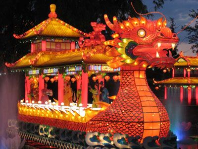 Taiwan, dragon boat for the lantern festival