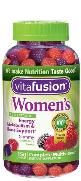 Vitafusion Women's Gummy Vitamins, Natural Berry Flavors, 150 Count