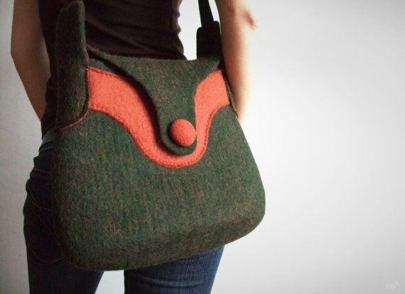 d-moss by OS felted handbag