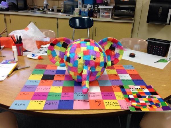 Elmer the Patchwork Elephant pumpkin #MyElmer