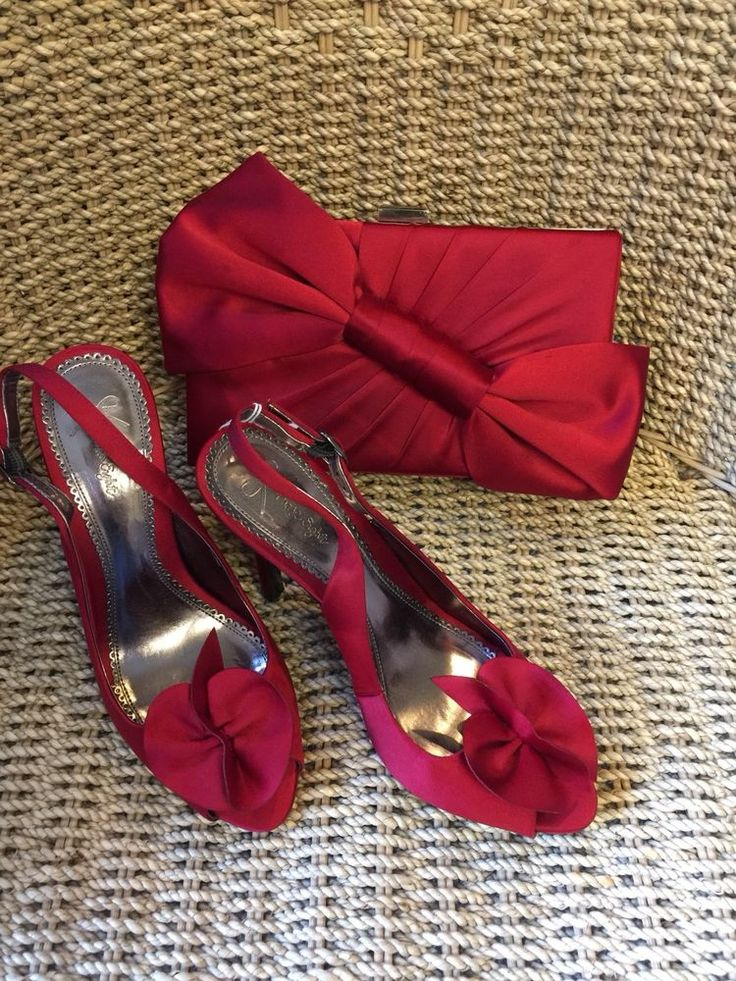 Phase Eight Red Satin Heels (Size 4) And Matching Bag   | eBay