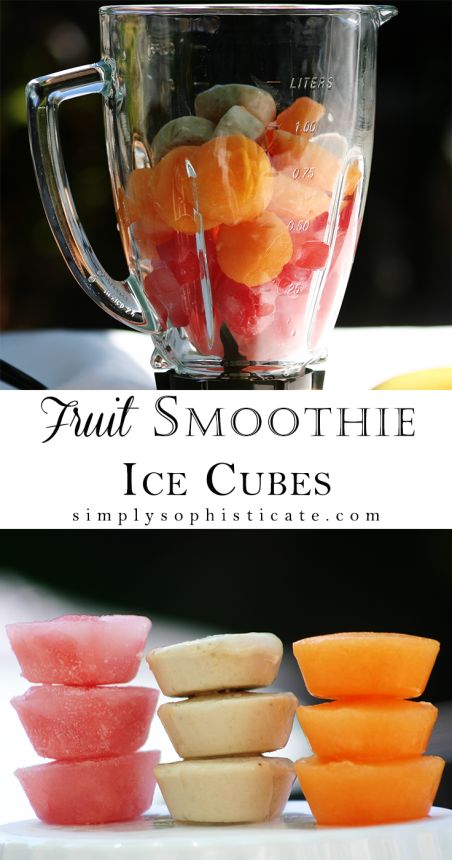 Fruit Smoothie Ice Cubes