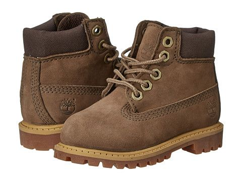 "Timberland Kids 6"" Premium Waterproof Boot Core (Toddler/Little Kid) Taupe - Zappos.com Free Shipping BOTH Ways"