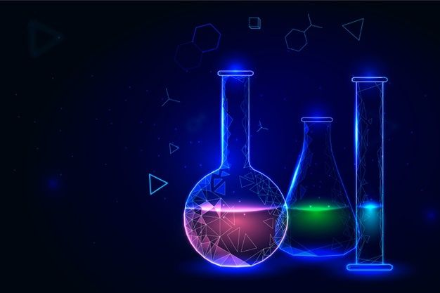Containers For Chemistry Lab Background Premium Vector Freepik Vector Background Design Wallpaper Scien In 2021 Science Background Chemistry Art Chemistry Labs