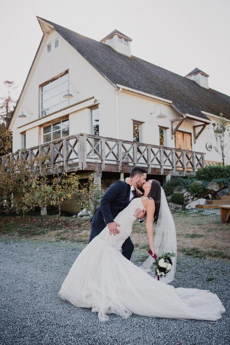 Wedding Photos at Sea Cider Victoria BC Photographer | Bride and Groom Dip Photos | Vancouver Island Weddings and Wedding Photography