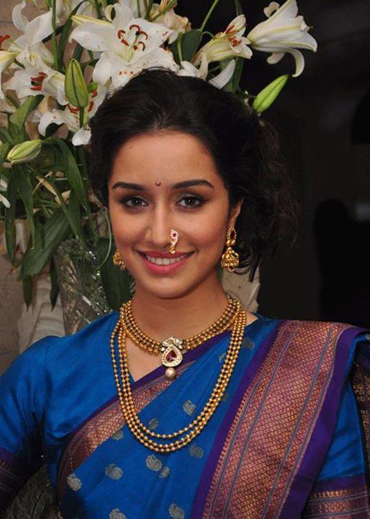 Shraddha Kapoor looks ethereal in her Marathi mulgi avatar. #Bollywood #Fashion #Style
